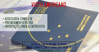 Assessoria para tirar seu visto – Completa