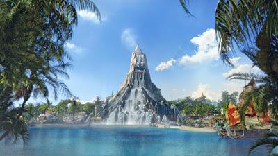O parque aquático Volcano Bay será inaugurado